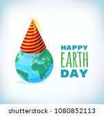 happy earth day card ... | Shutterstock .eps vector #1080852113