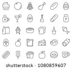 thin line icon set   coffee... | Shutterstock .eps vector #1080859607