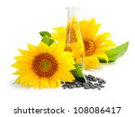 Sunflower Oil With Flower And...