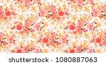 cute seamless floral pattern.... | Shutterstock .eps vector #1080887063