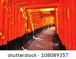 path of torii is leading to the ... | Shutterstock . vector #108089357