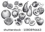 berries and fruit set.... | Shutterstock .eps vector #1080896663