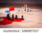 usa and china trade war concept....   Shutterstock . vector #1080897317