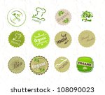 labels set for organic and eco...