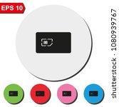 sim card with case flat round...