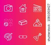 premium set with outline vector ... | Shutterstock .eps vector #1081003427
