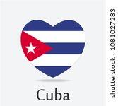 cuba flag in heart shape | Shutterstock .eps vector #1081027283