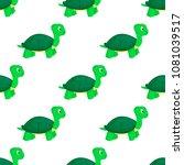 turtle animal ocean green... | Shutterstock .eps vector #1081039517