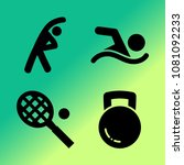 vector icon set about fitness... | Shutterstock .eps vector #1081092233