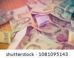 pile of banknote for background ... | Shutterstock . vector #1081095143