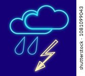 weather. cloud  rain and... | Shutterstock .eps vector #1081099043