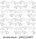 background of hearts | Shutterstock . vector #1081116407