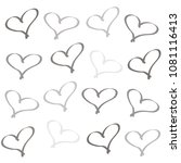background of hearts | Shutterstock . vector #1081116413