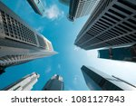 looking up at business... | Shutterstock . vector #1081127843