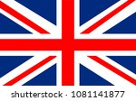 vector united kingdom flag ... | Shutterstock .eps vector #1081141877