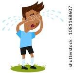 sad south american cartoon... | Shutterstock .eps vector #1081168607