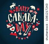 happy canada day illustration... | Shutterstock .eps vector #1081217243