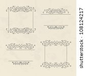 set of four floral vintage... | Shutterstock .eps vector #108124217