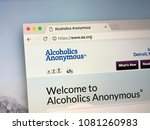 Small photo of Amsterdam, The Netherlands - May 1, 2018: Homepage of Alcoholics Anonymous (A.A), a international mutual aid fellowship program for members to tay sober and help other alcoholics achieve sobriety.