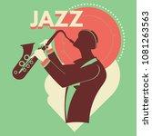 fantasy saxophonist play...   Shutterstock .eps vector #1081263563