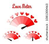 love meter. the speedometer of... | Shutterstock .eps vector #1081300463