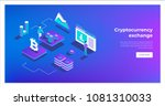 cryptocurrency exchange and... | Shutterstock .eps vector #1081310033