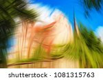 abstract fantasy background ... | Shutterstock . vector #1081315763