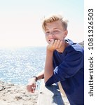 portrait of young man visiting...   Shutterstock . vector #1081326503