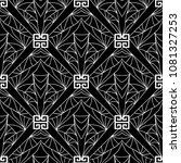 geometric black and white... | Shutterstock .eps vector #1081327253