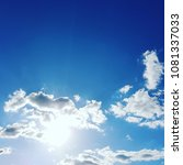 amazing blue sky in a sunny day | Shutterstock . vector #1081337033