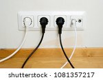 electric and aerial outlet... | Shutterstock . vector #1081357217