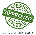 approved rubber stamp | Shutterstock .eps vector #1081364717