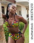 sexy ebony female in african... | Shutterstock . vector #1081376153
