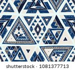 indian geometric folklore... | Shutterstock .eps vector #1081377713
