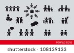 black people icons  famlies and ... | Shutterstock .eps vector #108139133
