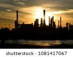 oil refinery plant industry.   Shutterstock . vector #1081417067