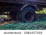 aged truck rusted in abandoned...   Shutterstock . vector #1081417103