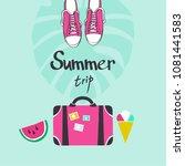 summer trip vector illustration | Shutterstock .eps vector #1081441583