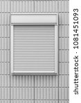 white metal shutter window and... | Shutterstock . vector #1081451093