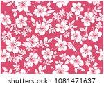 hibiscus's full handle...   Shutterstock .eps vector #1081471637