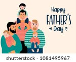 happy fathers day. vector... | Shutterstock .eps vector #1081495967