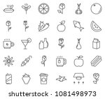 thin line icon set  ... | Shutterstock .eps vector #1081498973