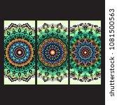 beautiful hand drawn indian... | Shutterstock . vector #1081500563