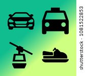 vector icon set about transport ... | Shutterstock .eps vector #1081522853