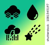 vector icon set about weather... | Shutterstock .eps vector #1081545197
