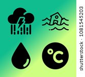 vector icon set about weather... | Shutterstock .eps vector #1081545203