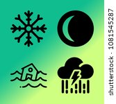 vector icon set about weather... | Shutterstock .eps vector #1081545287