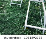 metal frame sun loungers on the ... | Shutterstock . vector #1081592333