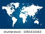 color world map vector | Shutterstock .eps vector #1081616363