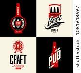 modern craft beer drink vector... | Shutterstock .eps vector #1081618697
